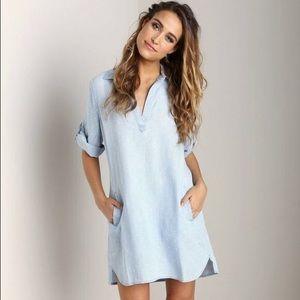 Anthropologie Cloth & Stone Chambray Tunic Dress